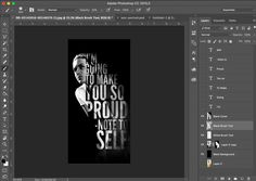 Tutorial How to Create Striking Text Portrait Photoshop Adobe Photoshop, Photoshop Website, Effects Photoshop, Photoshop Design, Photoshop Tutorial, Photoshop Actions, Photoshop Ideas, Photoshop Keyboard, Lightroom