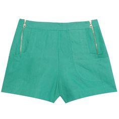 Short alfaiataria linho verde Shorts Sexy, Cute Shorts, Casual Shorts, Casual Outfits, Chor, Skirt Pants, Short Girls, Trousers Women, Casual Looks