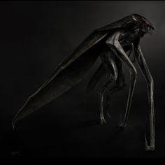 Godzilla 2014 Concept Art. Male MUTO