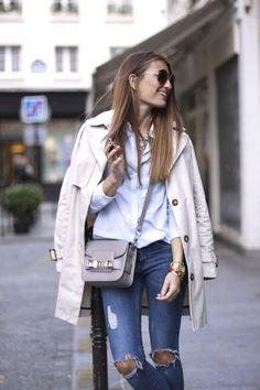 2014 Trench: Suiteblanco/ Bag: Proenza Schouler/ Shirt: Springfield/Jeans: H&M/ Shoes: Valentino