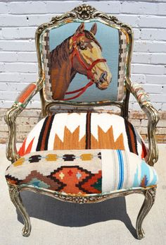 Needlepoint Horse Chairs from The Gypsy Wagon