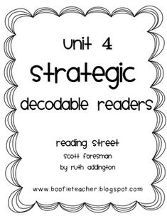 This file contains all 3 decodables for the Reading Street