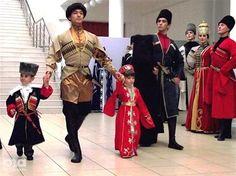 Adygha (Circassian). Beautiful traditional costumes!