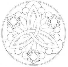 Mandala designs - I like the three points to rep. my kids