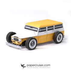 "Toyota FJ45LV ""rod"" paper model"