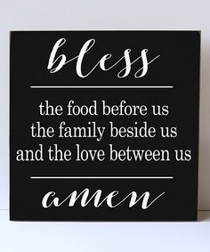 Look what I found on #zulily! Vinyl Crafts 'Bless the Food' Wall Sign by Vinyl Crafts #zulilyfinds