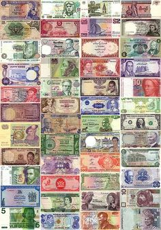 Currency Around The World Money Notes Bank Old Coins Rare