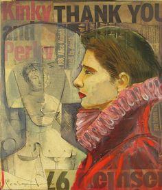 Titolo :Kinky Lady Tecnica : Collage ,Matite , Oil color Anno : 2009 Autere : Lino Lanaro