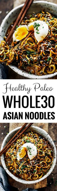 192 calorie whole30 balsamic glazed asian zucchini noodles! Super easy whole30 and paleo meal. A healthy dinner recipe for the whole family! Kid friendly noodles with a tempting asian sauce. whole30 meal plan. Easy whole30 dinner recipes. Easy whole30 dinner recipes. Whole30 recipes. Whole30 lunch. Whole30 meal planning. Whole30 meal prep. Healthy paleo meals. Healthy Whole30 recipes. Easy Whole30 recipes. Easy whole30 dinner recipes. Zucchini noodle recipe. Best veggie noodle recipes. paleo…