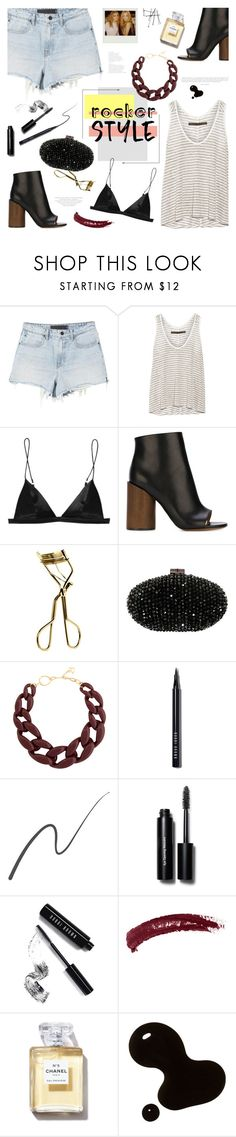 """""""Rocker Chic"""" by bklana ❤ liked on Polyvore featuring Enza Costa, T By Alexander Wang, Givenchy, MAC Cosmetics, Sondra Roberts, DIANA BROUSSARD, Bobbi Brown Cosmetics, Stila, Topshop and Chanel"""