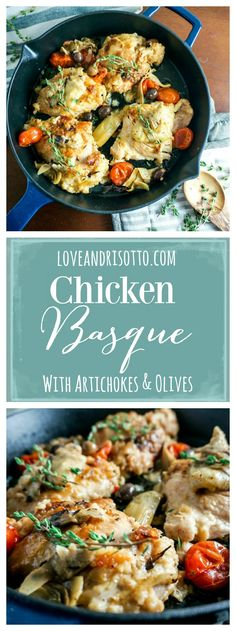 This dish will have you dreaming of Italy! This Chicken Basque recipe is so simple and delicious, and will fill your home with amazing aromas!