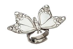 Silver Spoon Unique Beautiful Collector Adjustable Ring Butterfly RF -- Check out this great product.