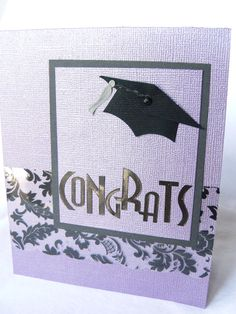 #Graduation card. For My handmade greeting cards visit me at My Personal blog: http://stampingwithbibiana.blogspot.com/