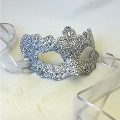 Silver Lady Filigree Shimmer Venetian Masquerade Masked Ball Mask ($50) ❤ liked on Polyvore