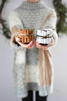 DIY sweet cinnamon candles for the holidays.