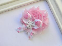 Snowflake Shabby Chic Hair Clip by Avabowtiquee on Etsy