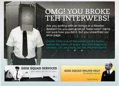 Funny custom 404 page