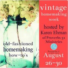 VINTAGE Homemaking, my unique style...I love her thoughts on this!