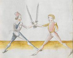 Lecküchner, Hans: Kunst des Messerfechtens Nordbayern, 1482 Cgm 582 Folio 345