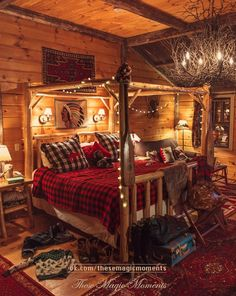 There are numerous ways to make your home interior design look more interesting, one of them is using cabin style design. With this inspiring gallery you can make fantastic cabin style in your home. Log Cabin Bedrooms, Log Cabin Homes, Western Bedrooms, Log Cabin Interiors, Log Cabin Living, Cozy Living, Vintage Boys Bedrooms, Log Home Bedroom, Log Bedroom Furniture
