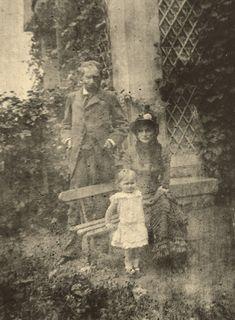A photograph of Berthe Morisot, her husband Eugene Manet and their daughter, Julie, circa 1881