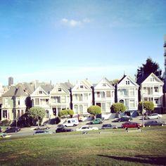"Trip Stop #VolvoJoyride ...Not even joking....Alamo Square, San Francisco. ""Full House"""