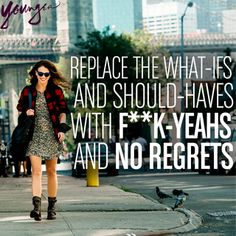 No regrets. #YoungerTV premieres March 2015 on TV Land. Visit us at www.youngertv.com.