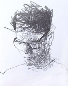 A5 pencil coffee shop sketch.