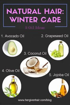 top 5 oils for natural hair winter care