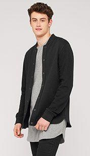 Hoodie in college-style in zwart