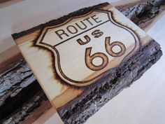 Route 66 sign  classic road sign artwork  rustic road by SepiaTree, $40.00