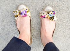 Get the look of anthropologie flats for a fraction of the price with this genius DIY