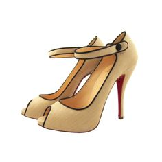 Christian Louboutin Linen Peep Toe Mary Janes | From a collection of rare vintage shoes at http://www.1stdibs.com/fashion/clothing/shoes/