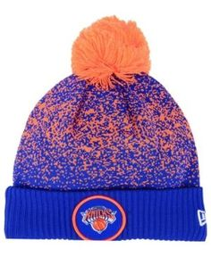 66c1e88fb78 New Era New York Knicks On-Court Collection Pom Knit Hat - Blue Adjustable