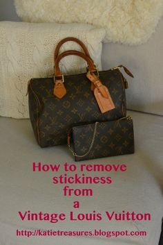 ff57c247032 Removing Stickiness From A Louis Vuitton Pochette Lv Handbags