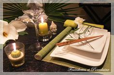 Fourchettes et Porcelaine: TABLE ZEN