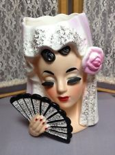 Vintage Inarco E-1611 Spanish Costume Ladies Head Vase