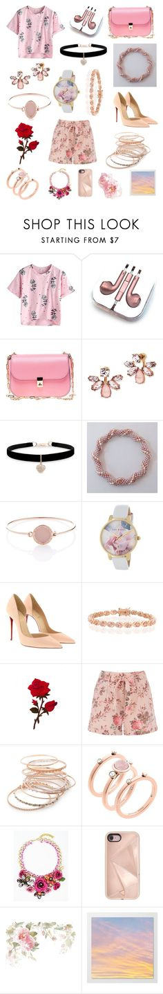 """""""Take this Rose"""" by mack525 ❤ liked on Polyvore featuring PhunkeeTree, Valentino, Marchesa, Betsey Johnson, Michael Kors, Ted Baker, Christian Louboutin, Bling Jewelry, Red Camel and Rebecca Minkoff"""