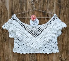 20 Crochet ideas for you T-shirt Au Crochet, Crochet Shirt, Single Crochet, Free Crochet, Crochet Bikini, Crochet Handles, Afghan Clothes, Summer Patterns, Irish Lace