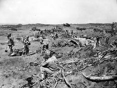 Panorama of south end of Iwo Jima. Iwo Jima - February 25, 1945