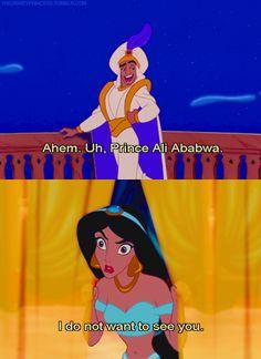 I don't know why, but I've always loved when Jafar called aladdin Prince Abubu. Disney Memes, Disney Quotes, Disney Pixar, Old Disney, Disney Fan Art, Disney And More, Disney Love, Pocahontas, Aladdin And Jasmine