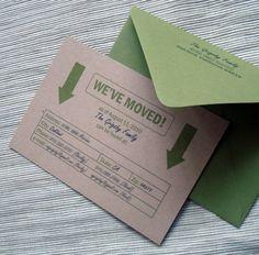 Handmade Moving Cards via apartmenttherapy.com