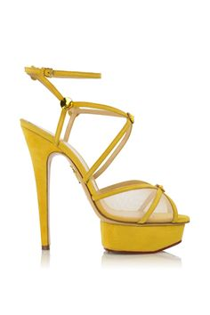 Charlotte Olympia sandals in yellow - posted by Marina Larroude on Style