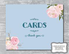 Peony Flower Cards Sign 8x10 DIY Wedding Poster by CreativePapier, $5.00
