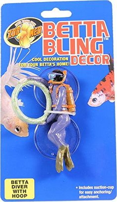 Zoo Med Laboratories Betta Bling Diver With Hoop >> Check out this great image : Dog Toys Dog Chew Toys, Dog Toys, Betta Fish Toys, Beta Fish, Pet Dogs, Pets, Siamese Fighting Fish, Planted Aquarium, Fish Tank