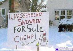 unassembled snowmen for sale... bawawawa!