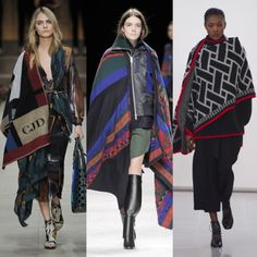 BLANKET SCARVES The bigger the better; scarves have gone blanket-like for A/W '14 Left to right: Burberry, Sacai, Issa