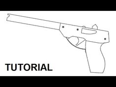 Tutorial — simple 14 shot rubber band pistol - YouTube