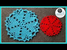 Hearts Desire Doily | Red Heart