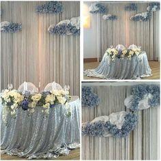 Серебро и облака из гортензий! Воздушно, легко, то, что нужно для свадьбы !